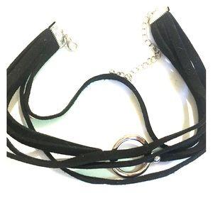 Choker layer circle necklace